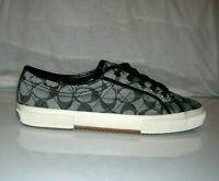 Coach Kalyn Denim Patent Signature Tennis Sneakers Shoes Women's Size 9.5 new