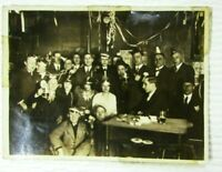 Company New Years Party 1920s Vintage Photo 4 3/4x 3 1/2 mb188