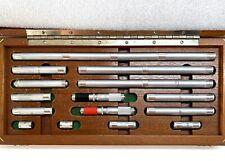 Starrett No S244cz Precision End Measuring Rods Set Withtwo Heads 14 Piece Set