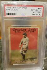 1915 Nap Lajoie Cracker Jack E145-2 #66 PSA Authentic Altered Napolean Larry