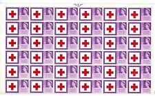 More details for sg 642b 1963 red cross  3d listed flaw repaired cross row 5/6 - mnh block stamps