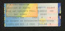 1984 The Kinks concert ticket stub UIC Chicago IL You Really Got Me Lola