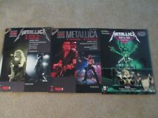 metallica riff by riff 1983-1988 1988-1996 guitar tab books