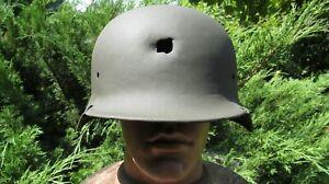 Original-Authentic WW2 WWII Relic German helmet Wehrmacht Restoration #1