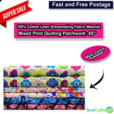 Lightweight Fabric Dressmaking 100/% Cotton Plain Superior Lawn Blush 45