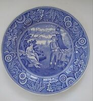 "Spode Blue Room Collection ""Woodman"" Dinner Plate 10 1/2"" GREAT USED CONDITION"