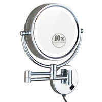 Cavoli Wall Mounted Makeup Mirror Led Lighted 10x