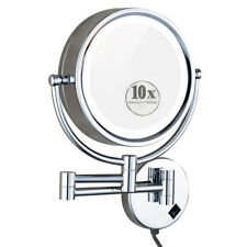 GURUN Large Vanitys Lighted Magnifying Makeup Mirror with Plug 2 Faces (10X&1X)