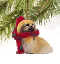 PEKINGESE DOG CHRISTMAS ORNAMENT HOLIDAY XMAS Figurine Scarf  gift