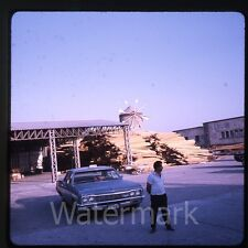 1970  amateur Kodachrome photo slide Rhodes Greece Chevrolet car taxi