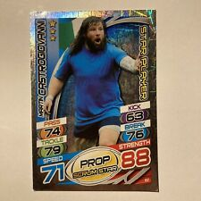 Topps Rugby Attax Card 2015 #82 Martin CastrogiovannI Italy Star Player Foil