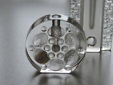 2 X GLAS VASE WALTHER DESIGN BLOCK VASE MASSIV 70er JAHRE OP ART