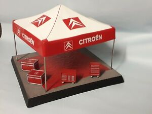 tenda assistenza rally citroen piu' accessori 1/43