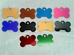 NEW CUSTOM ENGRAVED PERSONALIZED PET ID CAT DOG NAME TAGS SINGLE OR DOUBLE SIDE