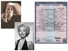 Marilyn Monroe MARRIAGE CERTIFICATE, Joe Dimaggio + 2 Stunning PHOTOS, 1954