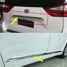 Chrome Body Side Molding Trim+Rear Trunk Lid Trim for 2011-18 Toyota Sienna MPV