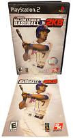 MLB Major League Baseball 2K8 W Manual PS2 PlayStation 2 Game