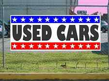 Stars & Stripes USED CARS Banner Sign NEW Texas Size & Quality