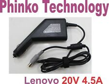 Car Charger For IBM Lenovo Laptop T60p T61 T61p Z60t Adapter 20V 4.5A 90W