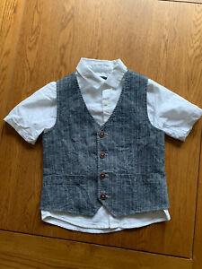 Next Boys Shirt And Waistcoat 3-4