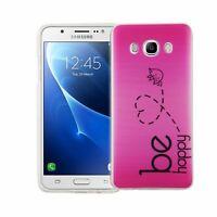 Téléphone Housse Pour Samsung Galaxy J5 2016 Be Happy Rose Sac Étui Motif TPU