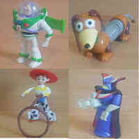 McDonalds Happy Meal Toy 2000 (2nd) Disney Toy Story Plastic Figures - Various