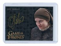 Game of Thrones Valyrian Steel Faye Marsay as Waif Gold Auto Autograph Card
