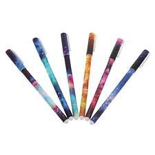 Unique 6pcs Cute Starry Gel Pen Convenient Writting 6 Colors Ink Roller Ball Pen