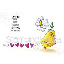 New Stamping Bella Cling Rubber Stamp COOL CHICKS MARCHING CHICK FREE USA SHIP