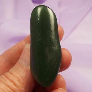 Dark green Nephrite Jade tumblestone 'Attract Good Luck' 21g SN42111
