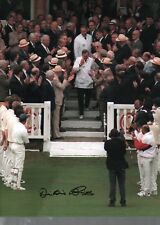 Dickie Bird autographed high quality 16x12 inch photograph cricket umpire M466