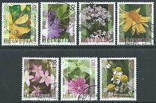 2003 SVIZZERA USATO PIANTE MEDICINALI 7 VALORI - CZ14-8