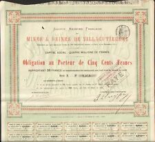 Bergbau & Fabriken von Villagutierrez (Spanien 1872) (n)