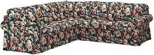 IKEA EKTORP 4 Seat 2+2 Corner Sofa Slipcover LINGBO Floral 704.029.04 🌺New🌺