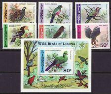 Liberia # 777-83 MNH 1977 Bird Set Fauna W/ Souvenir Sheet
