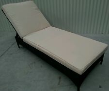 NEW RECLINING SUN BED POOL LOUNGE PE RATTAN ALL WEATHER OUTDOOR + CUSHION.
