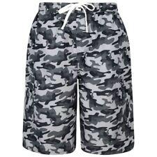 1e4dac9777 Kam Mens Black Camo Print Swim Shorts [2XL, Black]