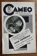 Programme CINEMA CAMEO DAVID COPPERFIELD Freddie Bartholomew, W.C. Fields 1936 *