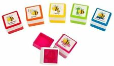 Lehrerstempel Fleißbienen selbstfärbend 6 Motive 2,7x2,7x2,5cm Motivstempel
