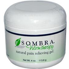 ****NEW SOMBRA WARM THERAPY 4oz JAR PAIN RELIEVING GEL FOR ARTHRITIS & STRAINS