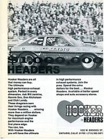 1973 Hooker Headers High Performance Exhaust Dyno Don Nicholson Pro Stock Ad