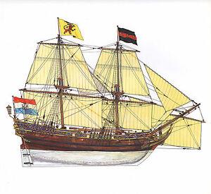 Vintage Historische Segelschiff Aufdruck ~ Dutch Brigantine 1660