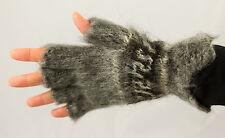 Alpaca Wool Fingerless Gloves Hand-Knitted in Boliva