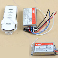 Digital Wireless Wall Switch Splitter Box + Remote Control 2 Port Way Light Lamp