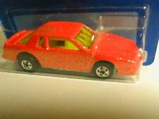 early 90`s Hotwheels blue card #170 CHEVY STOCKER orange w/glitter  MIP BP  1991