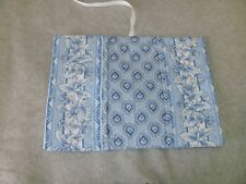 Longaberger Blue Paisley Cloth Book Cover Brand New