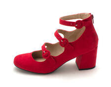 Mix No 6 Womens deima Closed Toe Casual Ankle Strap Sandals  Red  Size 10.0