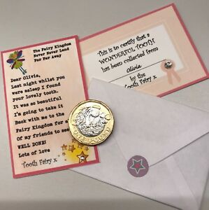 Tooth Fairy certificate, letter, note - lost tooth