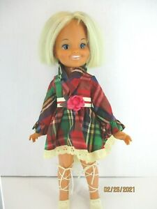 """Vintage 1971  Dina Doll Ideal Toy Corp Growing Blonde Hair 16"""" Tall MG-15 NO BOX"""