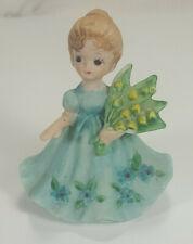 1974 George Good Josef June Birthday Flower Girl Figurine Lily Of The Valley